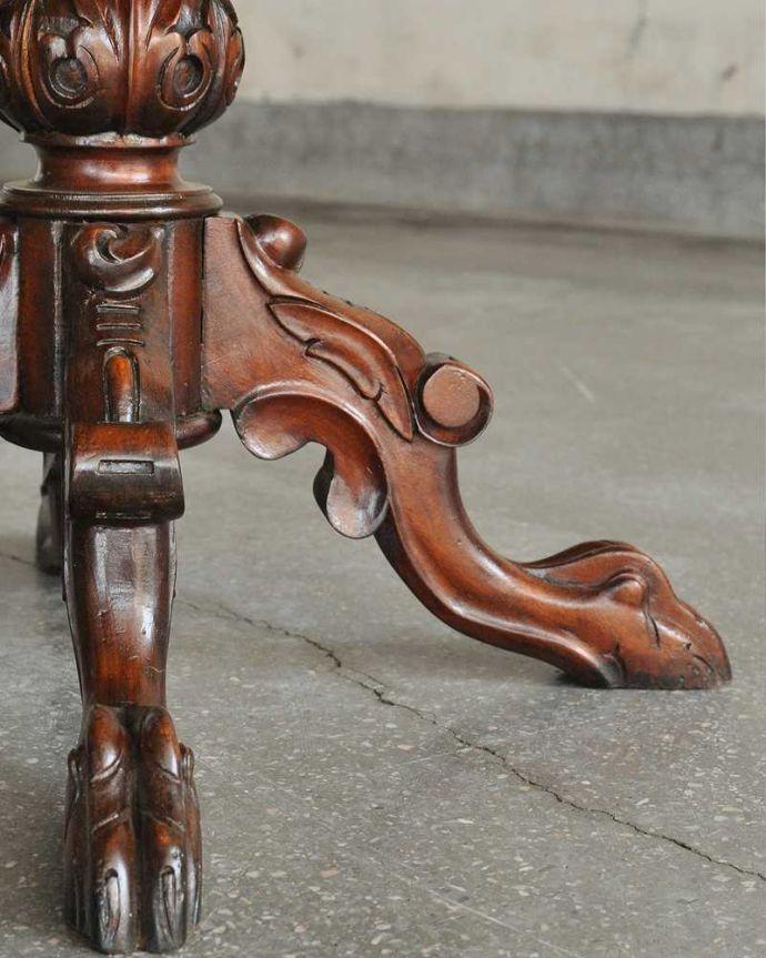 q-1106-f  アンティークワインテーブルの脚
