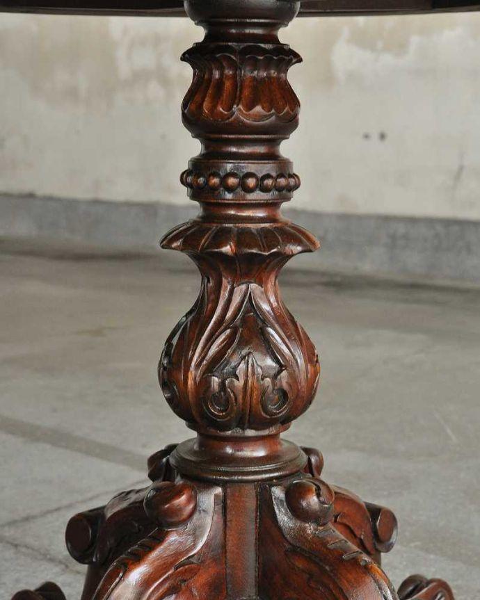 q-1106-f  アンティークティーテーブル(丸型)の装飾