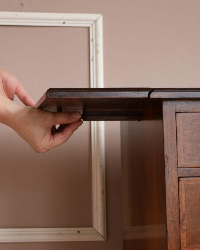 q-1115-f アンティークナイトテーブルの開閉方法