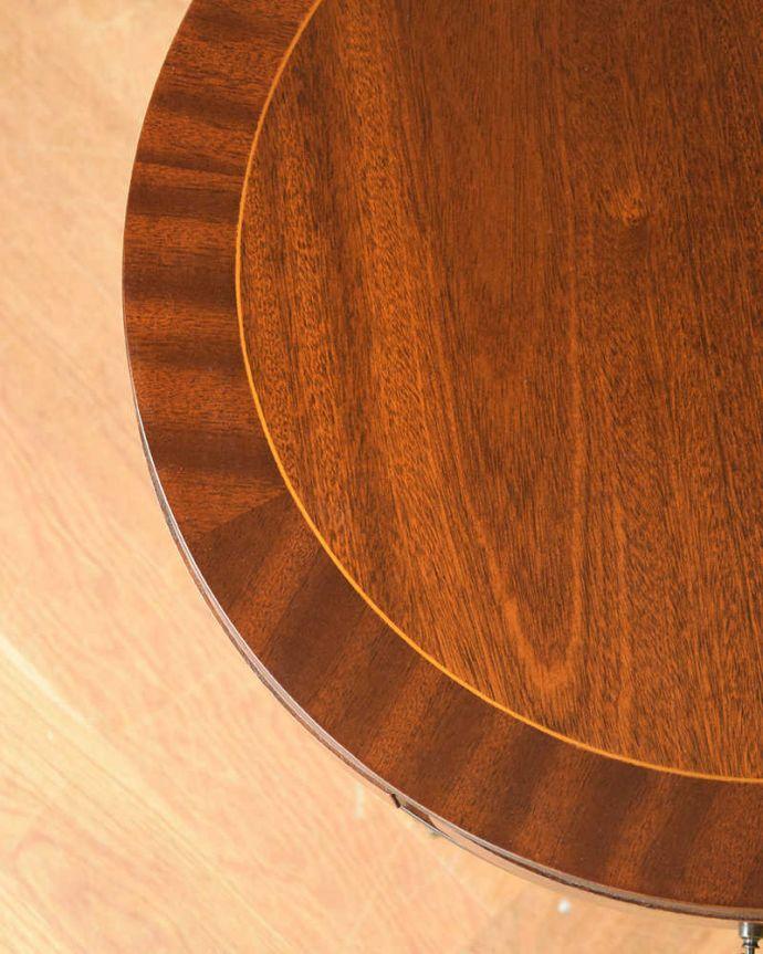q-1130-f アンティークオケージョナルテーブルの天板ズーム