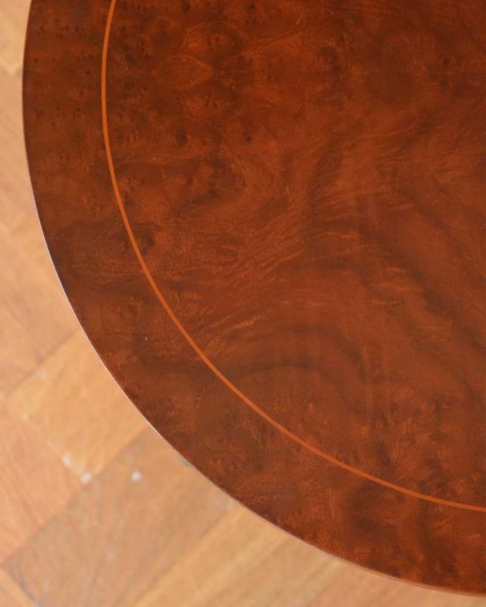 q-1148-f アンティークオケージョナルテーブルの天板ズーム