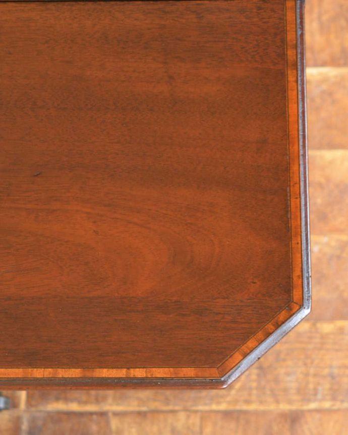 q-1156-f  アンティークゲートレッグテーブルの天板ズーム