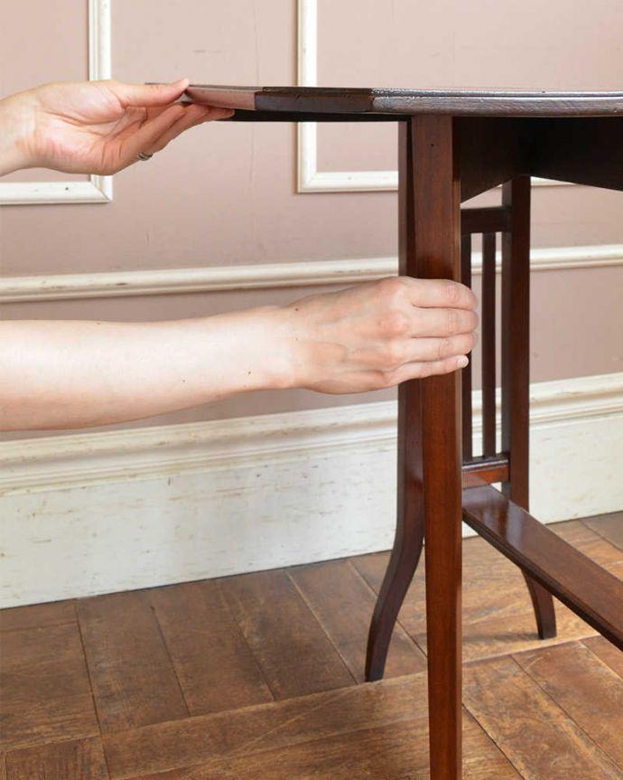 q-1156-f  アンティークゲートレッグテーブルの組み立て
