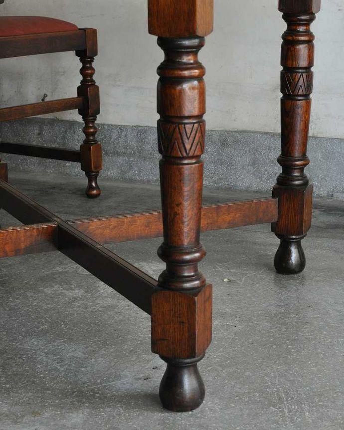 q-1166-f アンティークドローリーフテーブルの脚