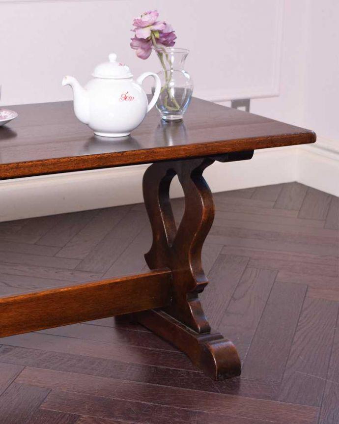 q-1179-f 英国アンティークコーヒーテーブルのズーム