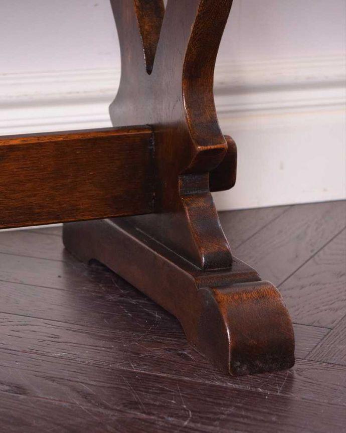 q-1179-f 英国アンティークコーヒーテーブルの脚