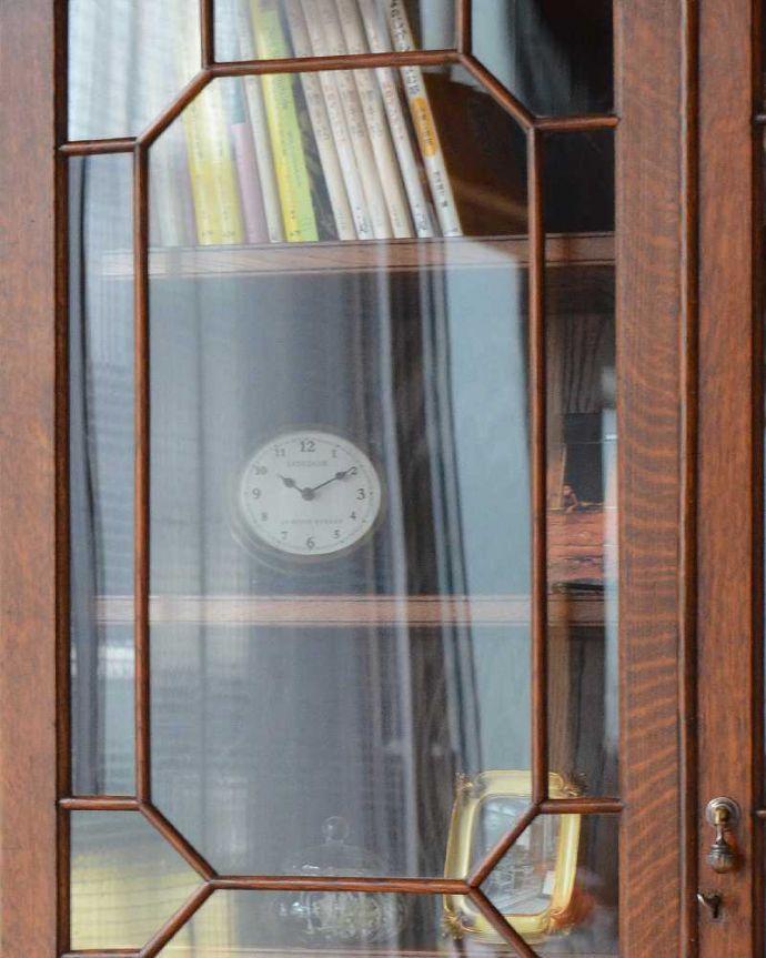 q-1185-f アンティークブックケースのガラス戸