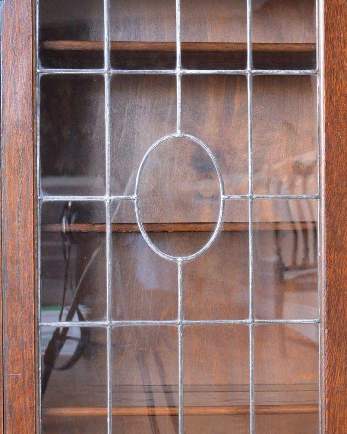q-1226-f アンティークブックケースのガラス戸