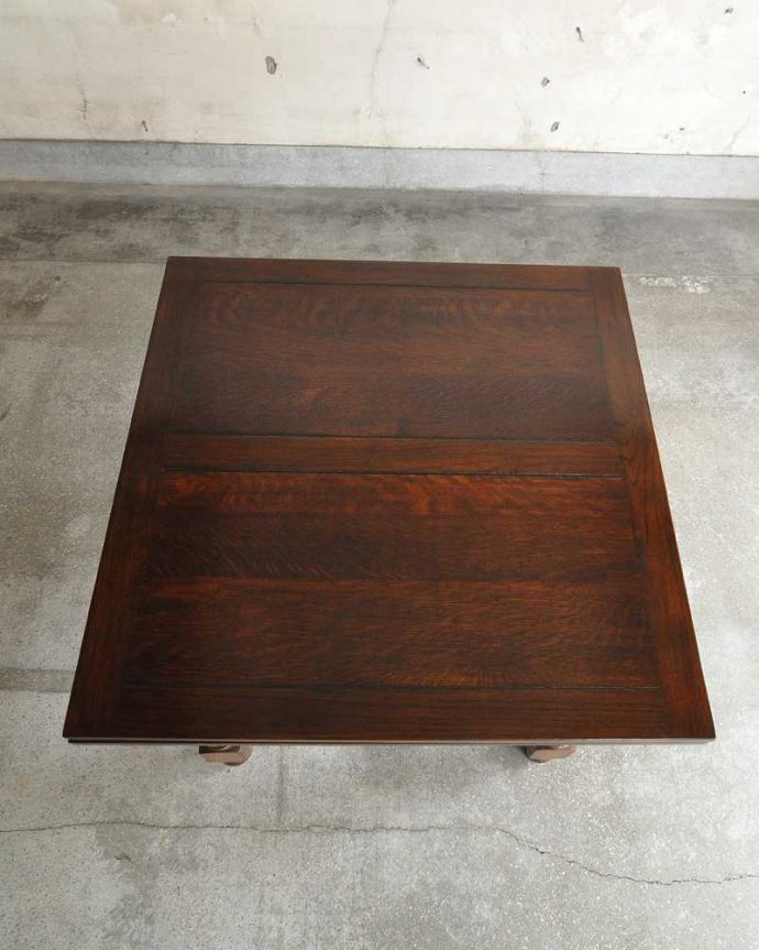 q-1232-f アンティークドローリーフテーブルの天板(閉じた状態)