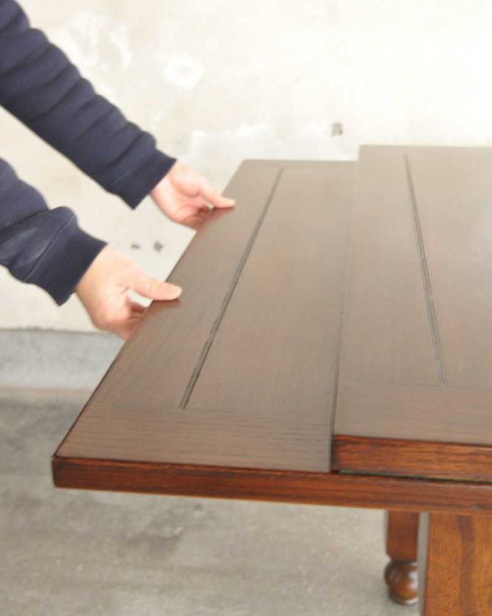 q-1232-f アンティークドローリーフテーブルの開き方