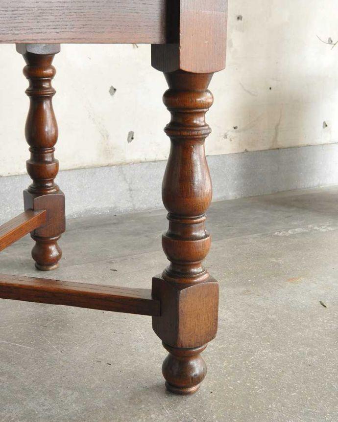 q-1232-f アンティークドローリーフテーブルの脚