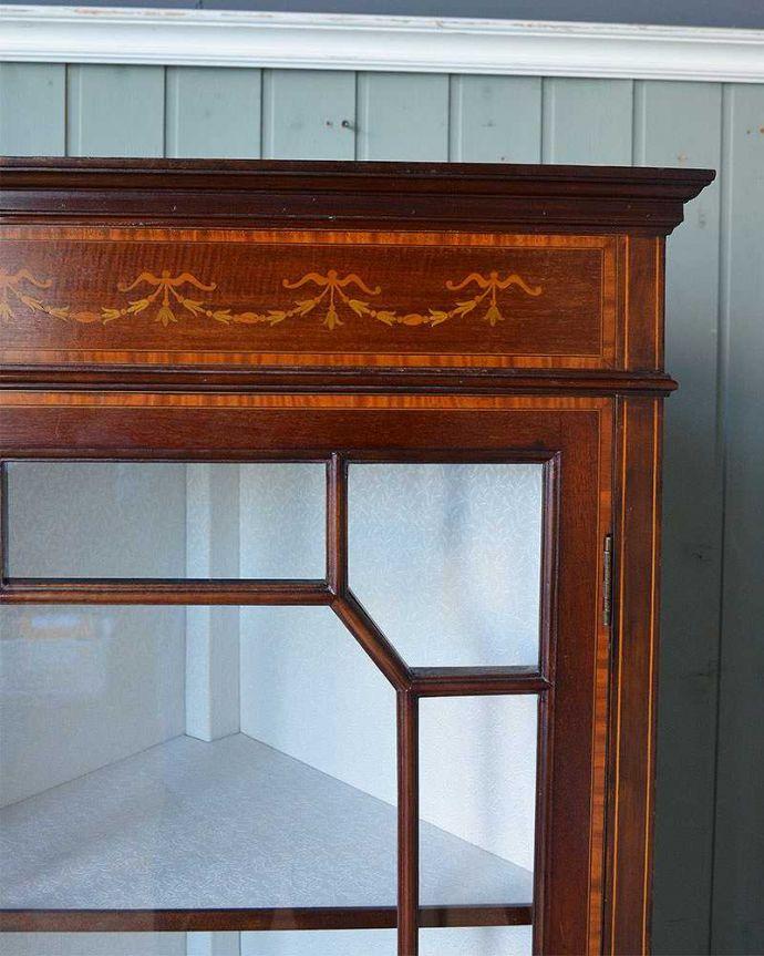 q-1244-f アンティークガラスキャビネットの装飾