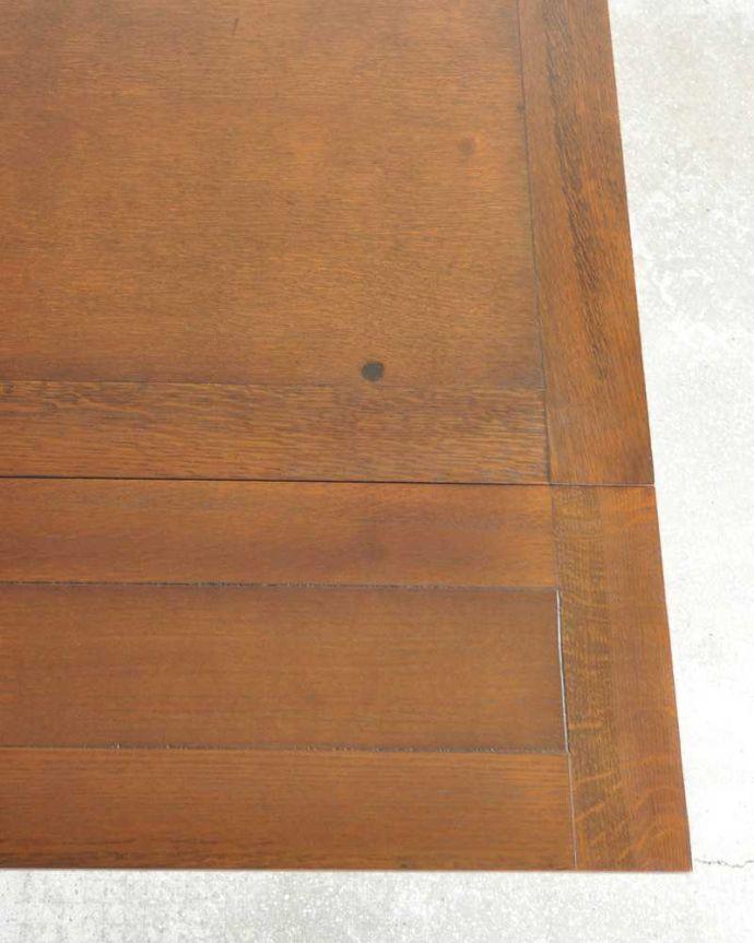 q-1249-f アンティークドローリーフテーブルの天板ズーム