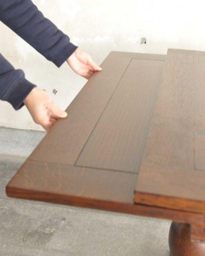 q-1249-f アンティークドローリーフテーブルの開き方