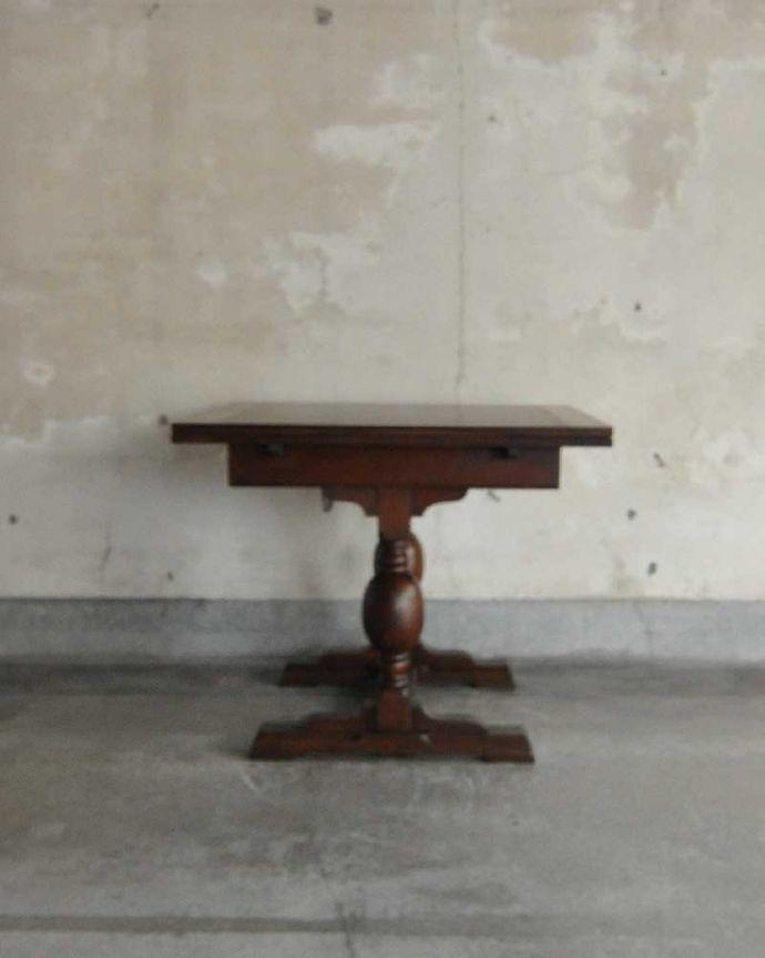 q-1249-f アンティークドローリーフテーブルの後ろ(短い方)