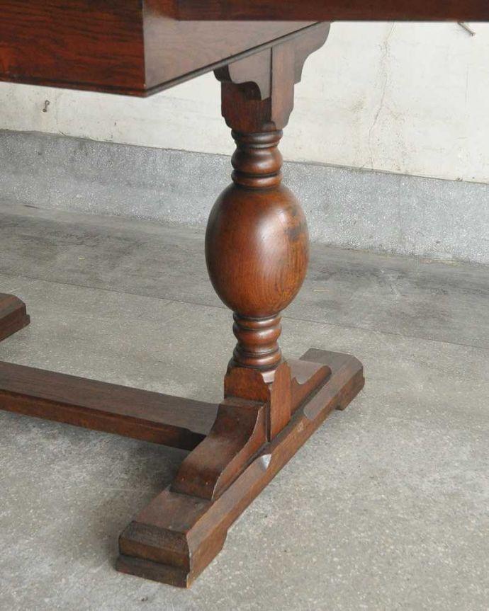 q-1249-f アンティークドローリーフテーブルの脚