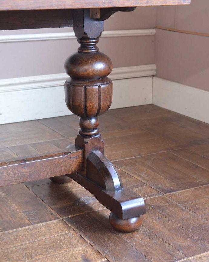 q-1250-f アンティークドローリーフテーブルの脚