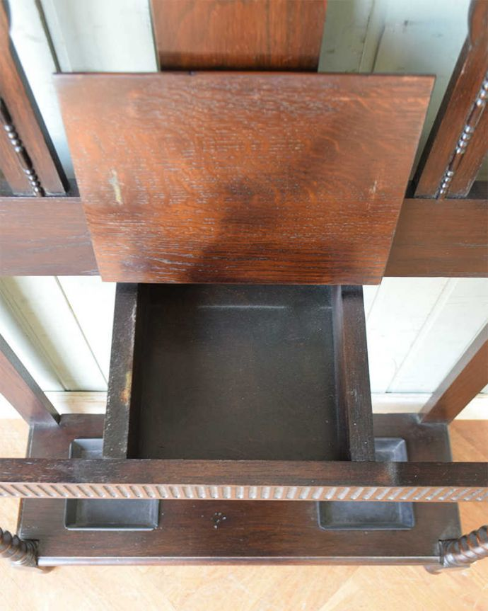 q-1274-f アンティークホールスタンドの箱の中
