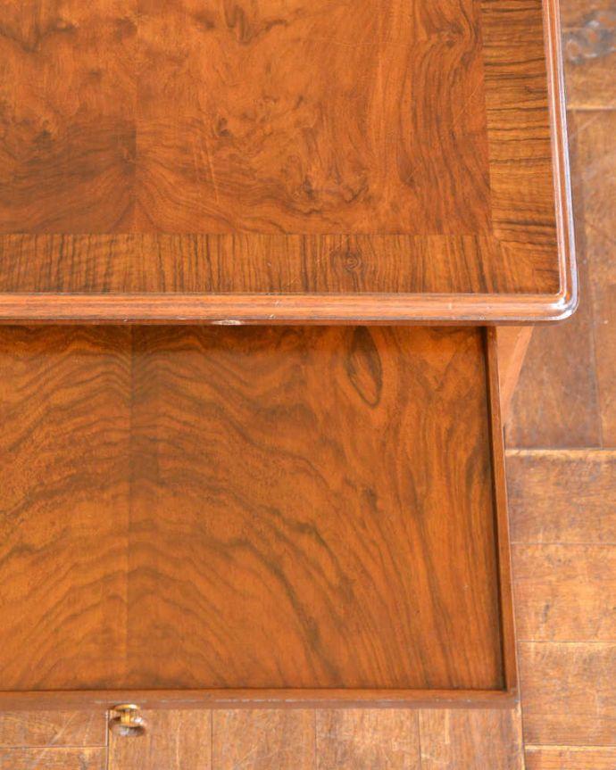 q-1294-f アンティークドローリーフテーブルの天板ズーム