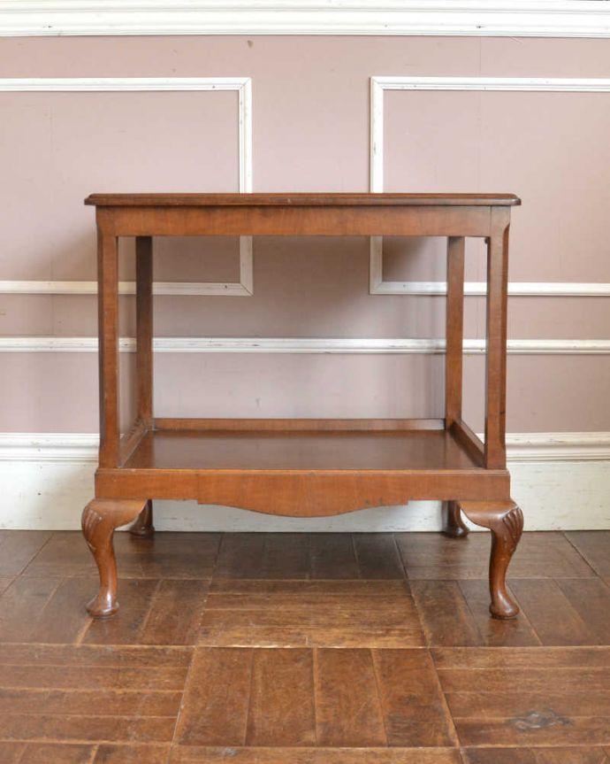q-1294-f アンティークドローリーフテーブルの横-(閉じたとき)