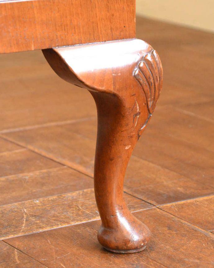 q-1294-f アンティークドローリーフテーブルの脚
