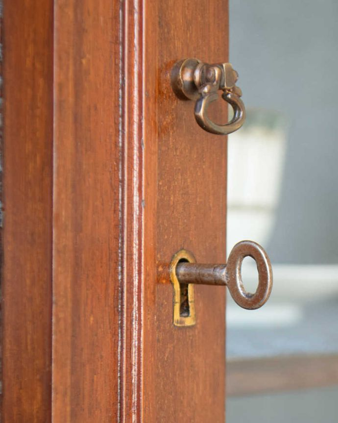 q-1319-f アンティークキャビネットの鍵、取っ手