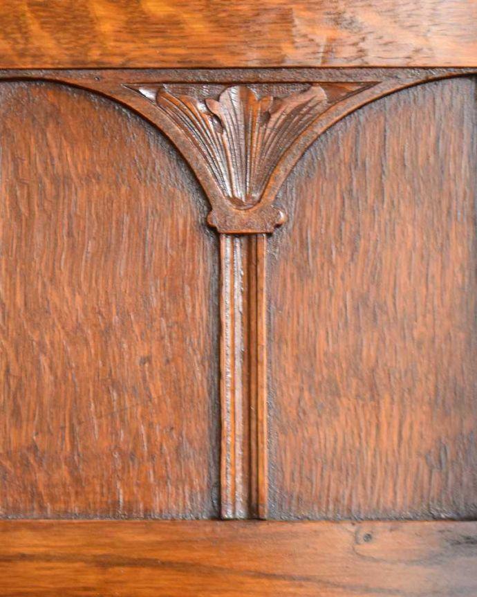 q-1380-f アンティークミラーバックサイドボードの彫り