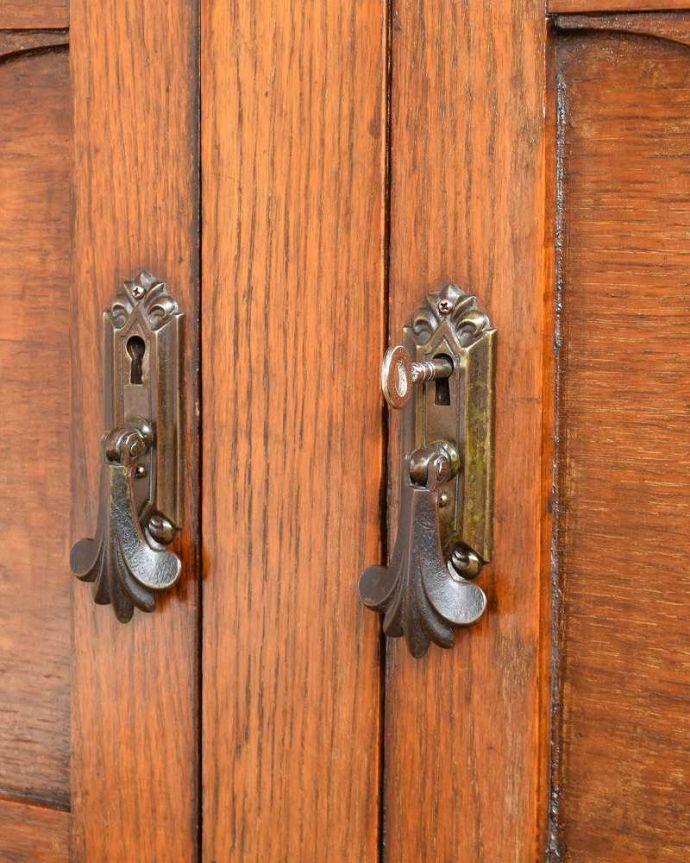 q-1380-f アンティークブックケースの鍵