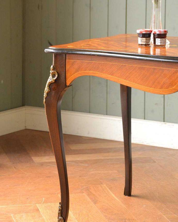 q-1419-f フレンチコーヒーテーブルのズーム