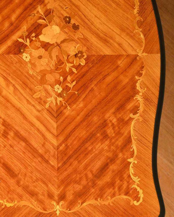 q-1419-f アンティークダイニングテーブルの天板ズーム