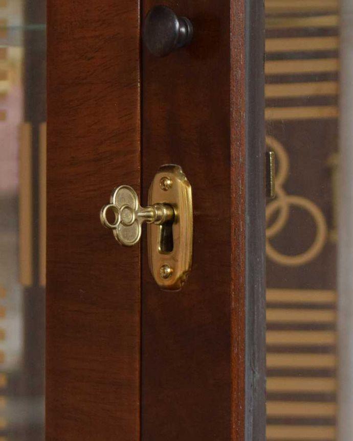q-1429-f アンティークガラスキャビネットの鍵(取っ手)