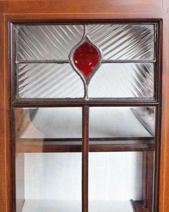 q-1430-f アンティークキャビネットのステンドグラス