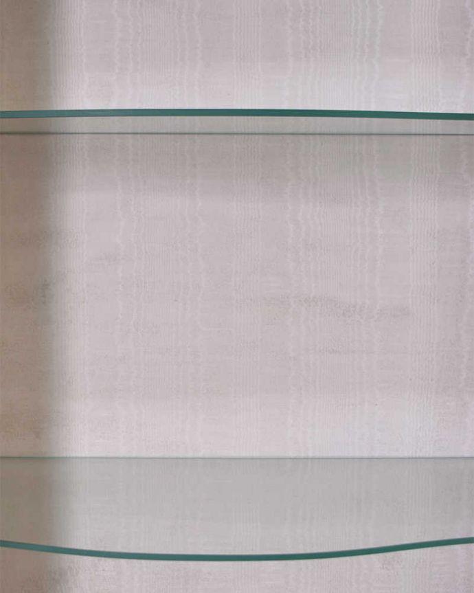 q-1441-f アンティークガラスキャビネットの背板の布
