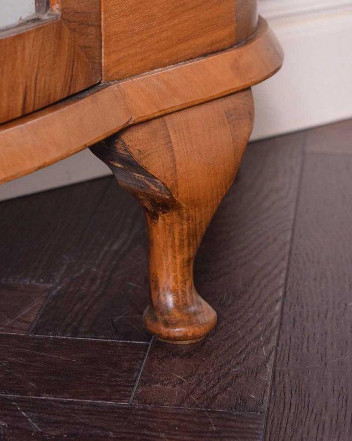 q-1443-f アンティークガラスキャビネットの脚