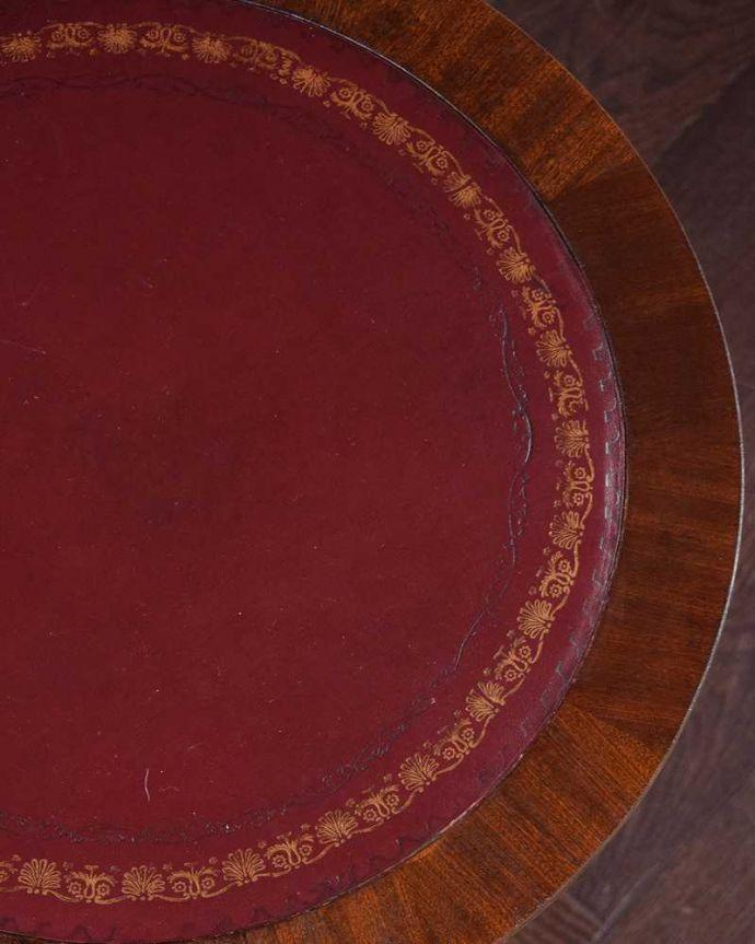 q-1463-f アンティークオケージョナルテーブルの天板ズーム