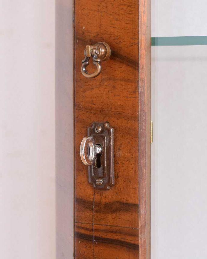 q-1480-f アンティークガラスキャビネットの鍵(取っ手)