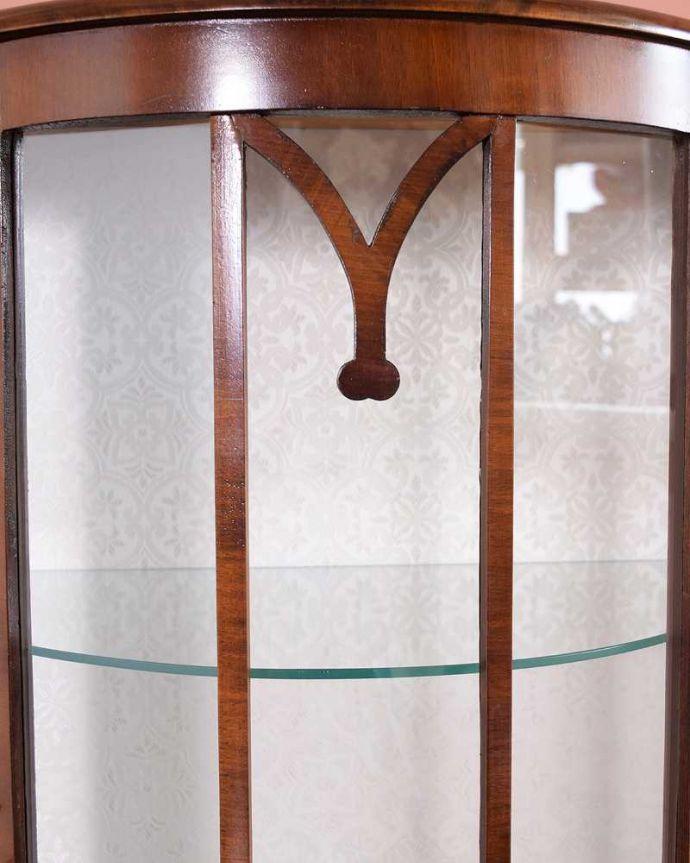 q-1483-f アンティークガラスキャビネットの装飾