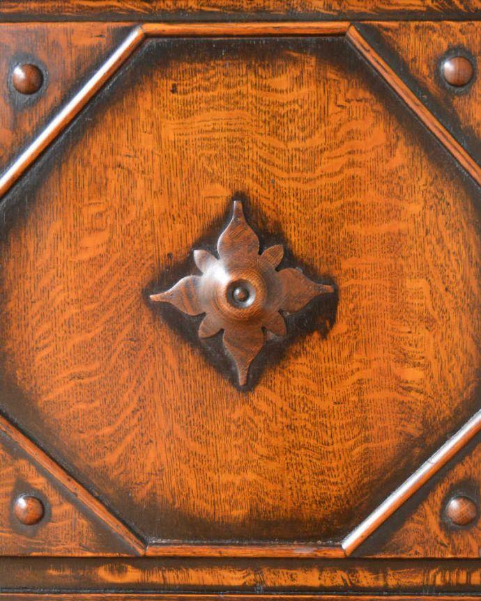q-1490-f アンティークミラーバックサイドボードの彫り