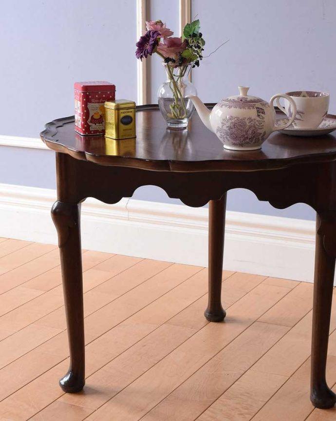 q-1511-f 英国アンティークコーヒーテーブルのズーム