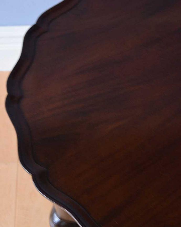 q-1511-f 英国アンティークコーヒーテーブルの天板ズーム