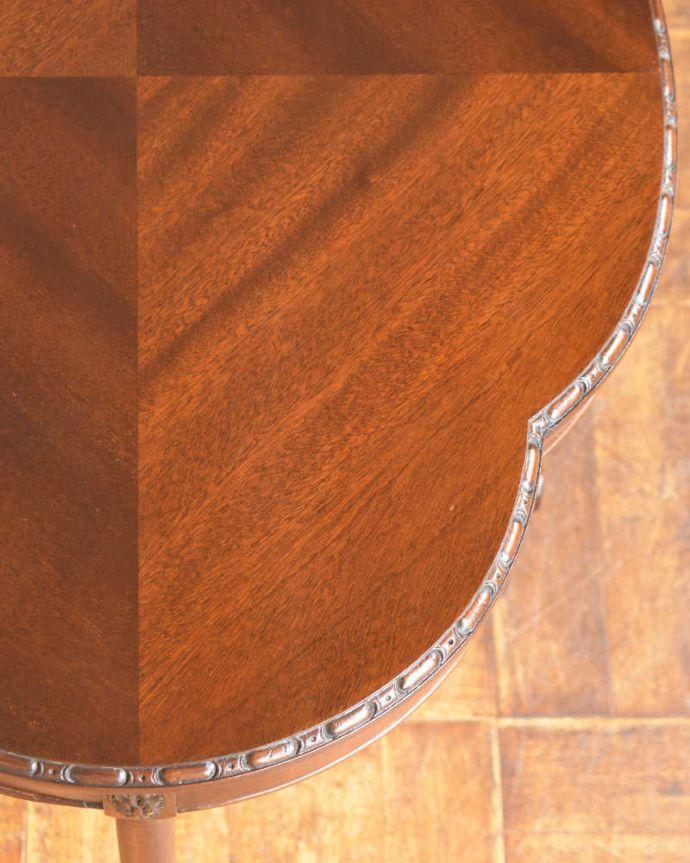 q-1516-f アンティークオケージョナルテーブルの天板ズーム