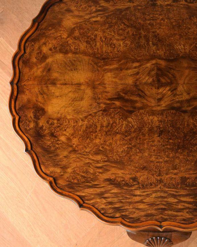 q-1519-f 英国アンティークコーヒーテーブルの天板ズーム