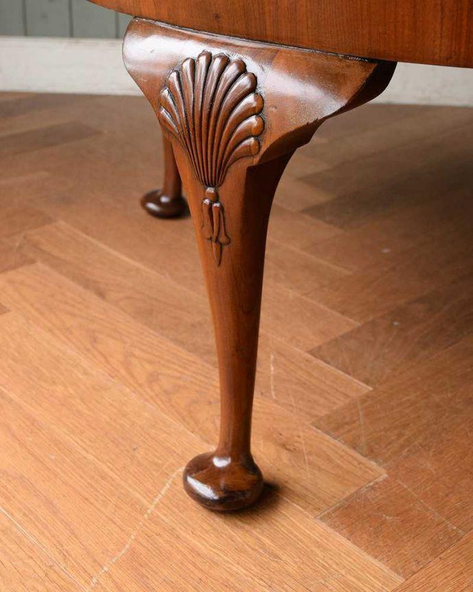 q-1519-f 英国アンティークコーヒーテーブルの脚