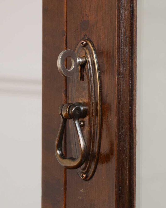 q-1533-f アンティークガラスキャビネットの鍵(取っ手)