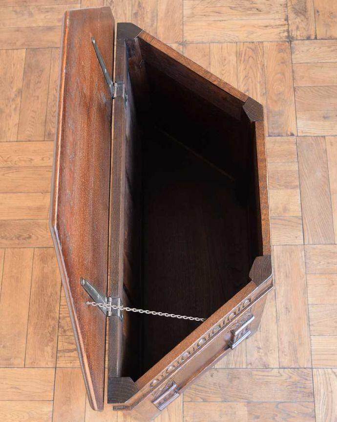 q-1543-f アンティークコファの箱内