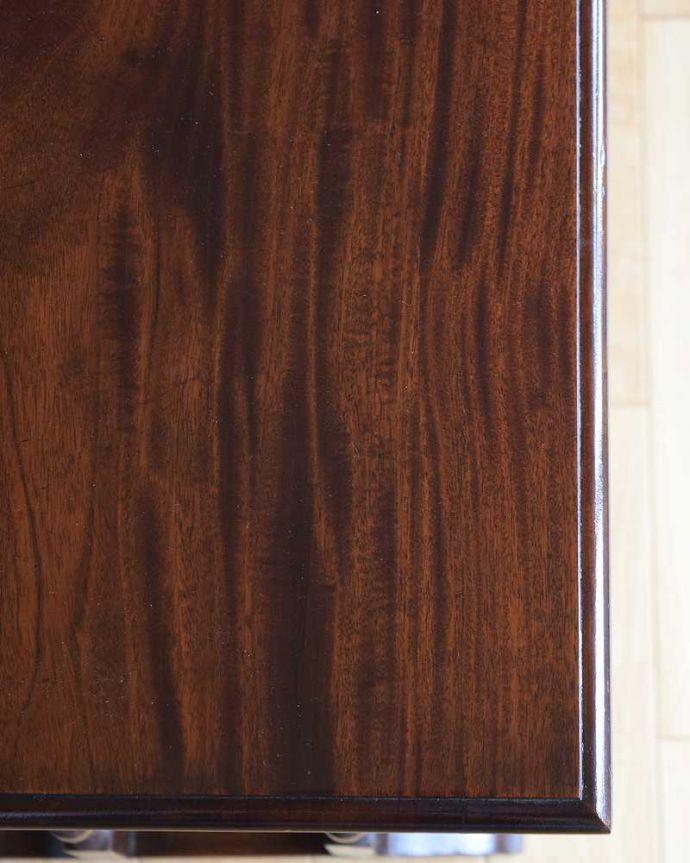 q-1559-f アンティークネストテーブルの天板ズーム