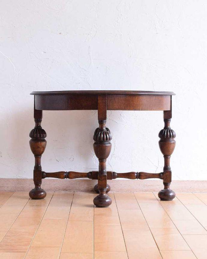 q-1560-f 英国アンティークコーヒーテーブルの横