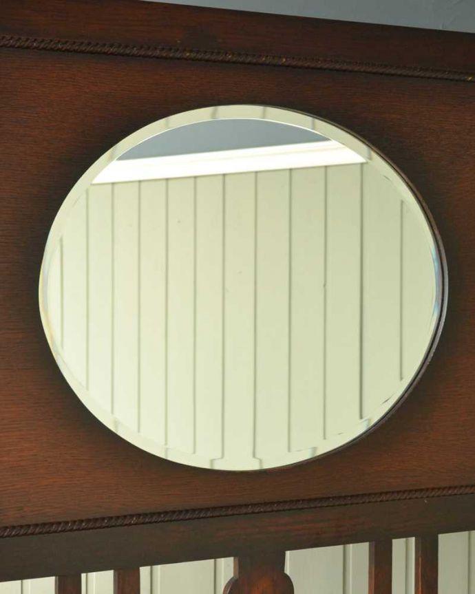 q-1564-f アンティークホールスタンドのミラー