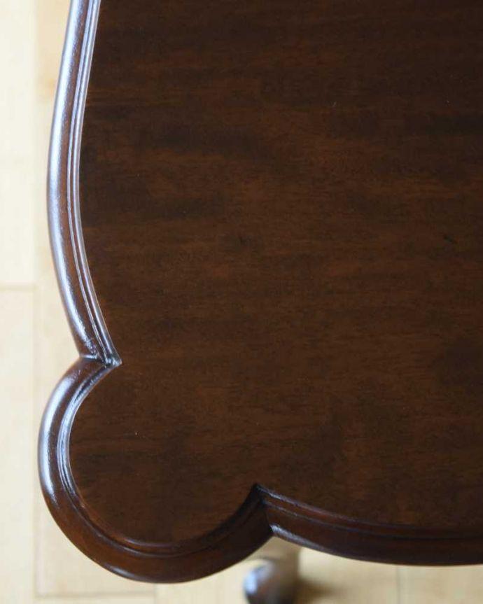 q-1582-f アンティークオケージョナルテーブルの天板ズーム
