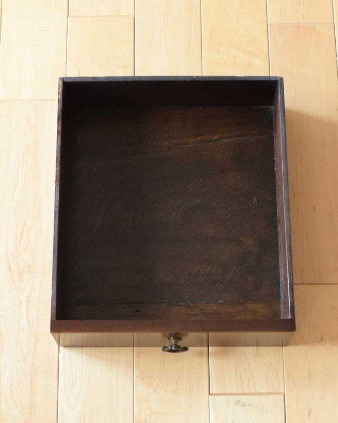 q-1595-f  アンティークオケージョナルテーブルの引き出し
